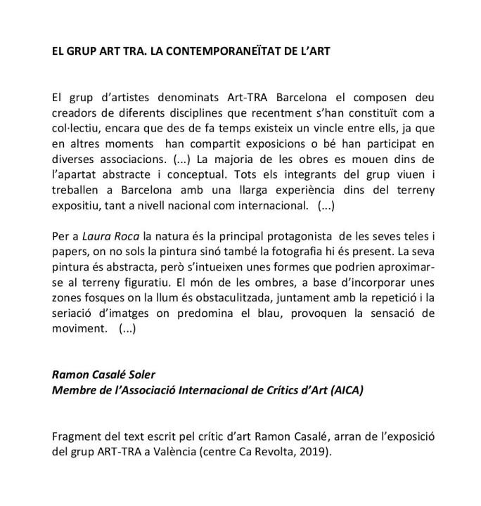 EL GRUP ART TRA, Ramon Casalé